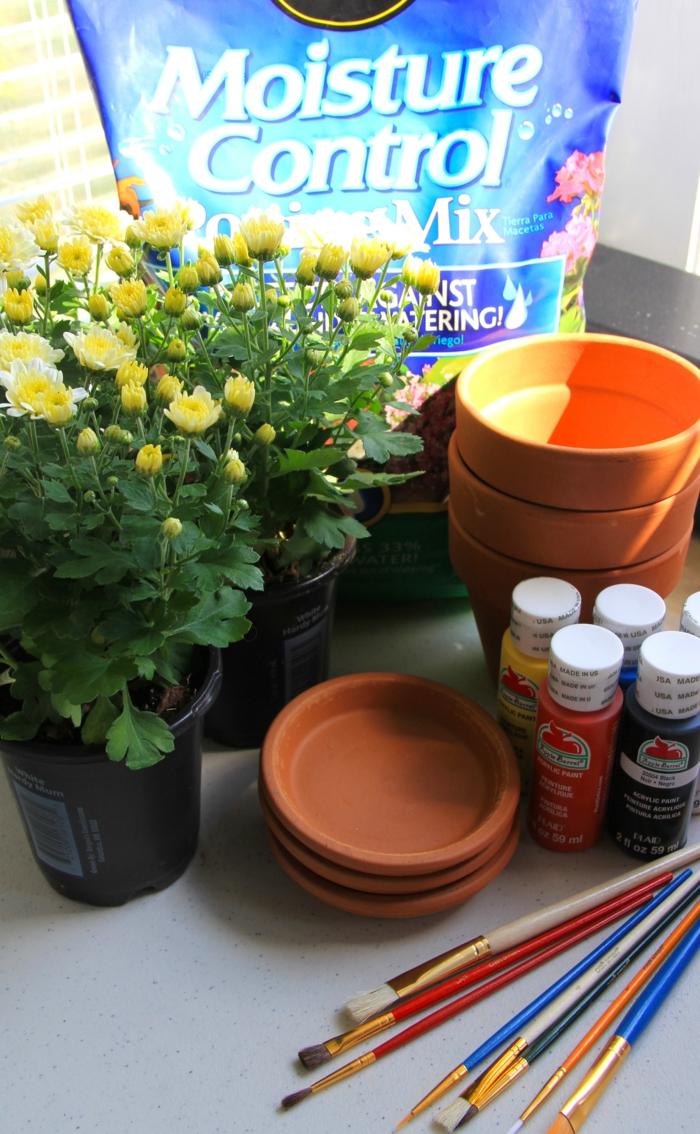 diy idée déco pour les pots de fleurs