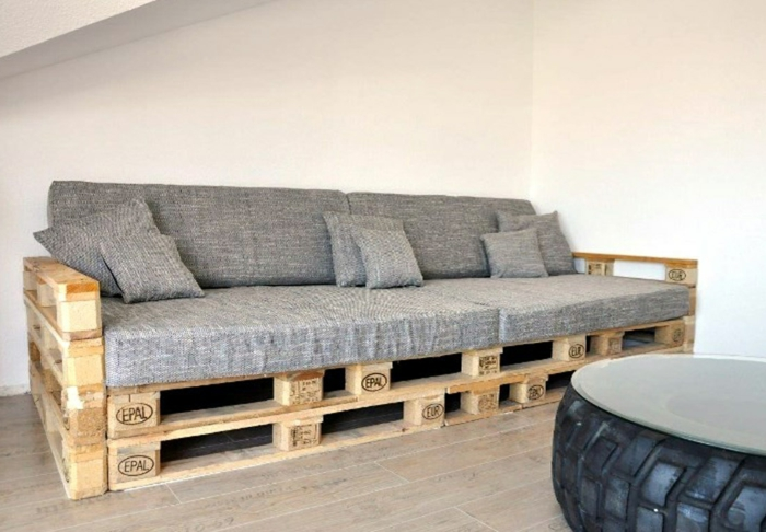 diy meubles intérieur banc palette