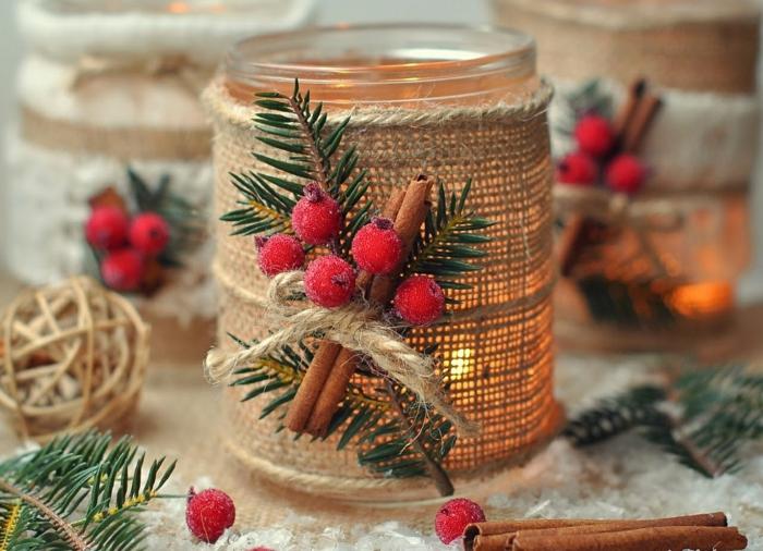 diy un bougeoir pour la décoration de Noël