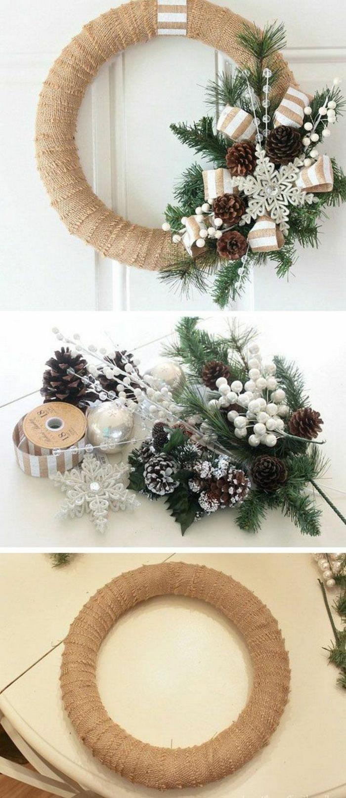 diy une couronne décoration de Noël
