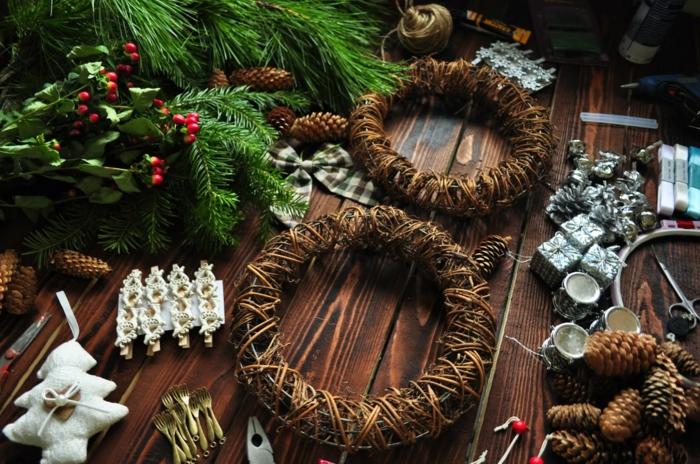 diy une couronne pour la décoration de Noël