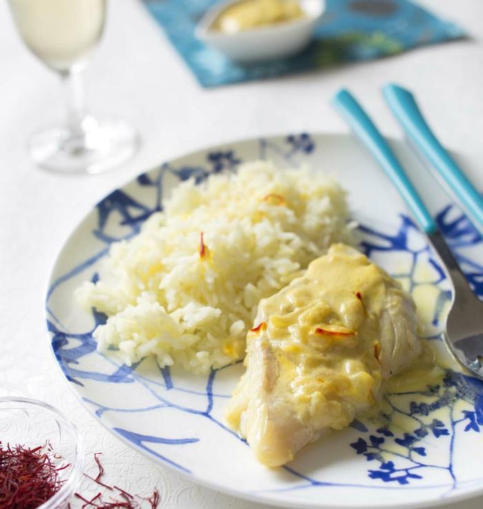 filets de merlan au lait de coco et safran idée recette avec du lait végétal