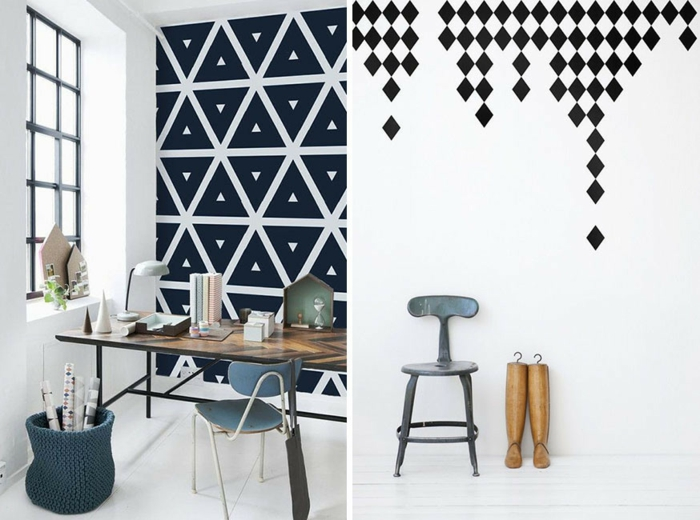 formes géométriques idées pour un papier peint scandinave