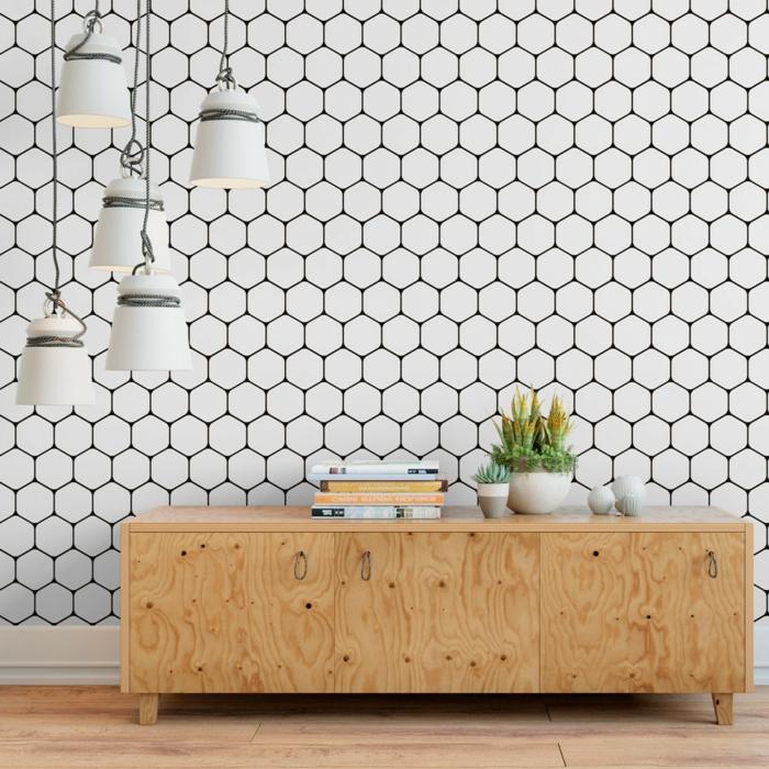 formes géométriques pour un papier peint scandinave