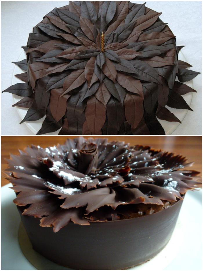 gâteau feuille d'automne préparation