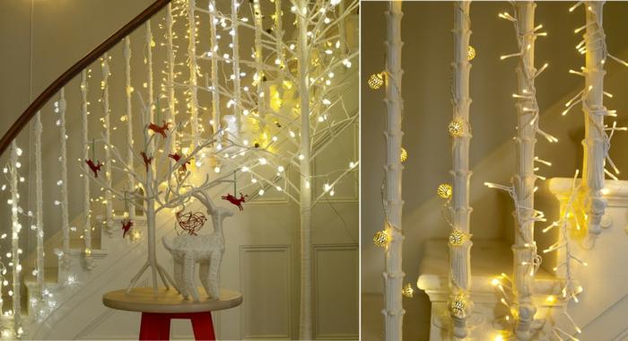 guirlande lumineuse idées décoration de Noël