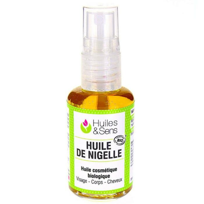 huile de nigelle bio cheveux visage corps
