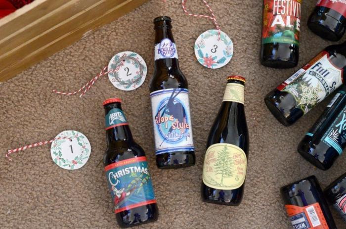 idée avec bière pour un calendrier de l'avent à fabriquer