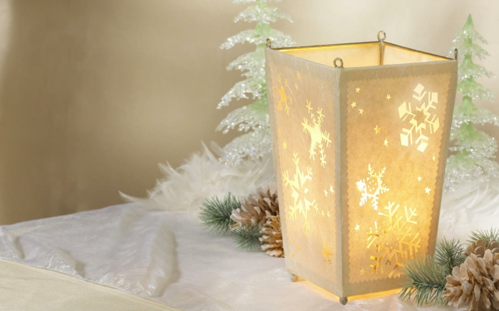 idée avec bougies décoration de Noël
