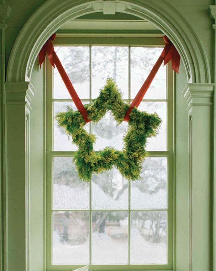 idée avec couronne de noël décoration de Noël