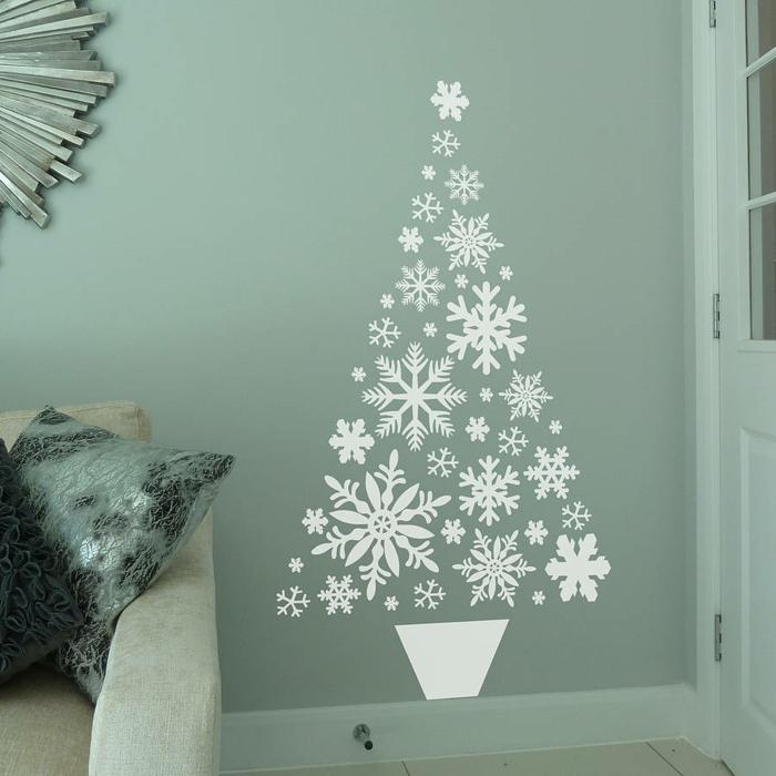 idée avec stickers décoration de Noël