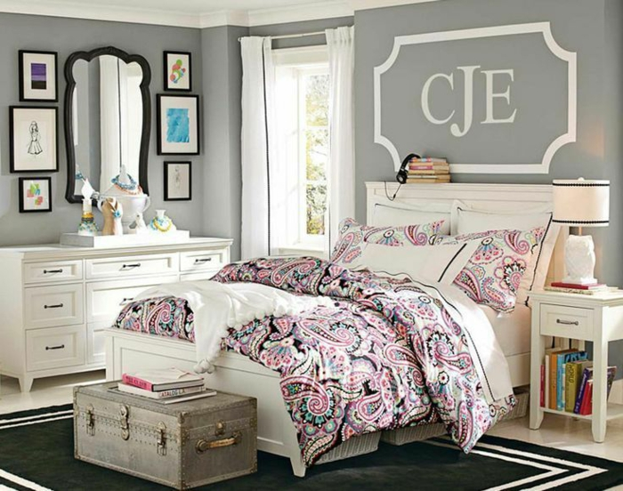 chambre fille ado 30 id es de design magnifique. Black Bedroom Furniture Sets. Home Design Ideas