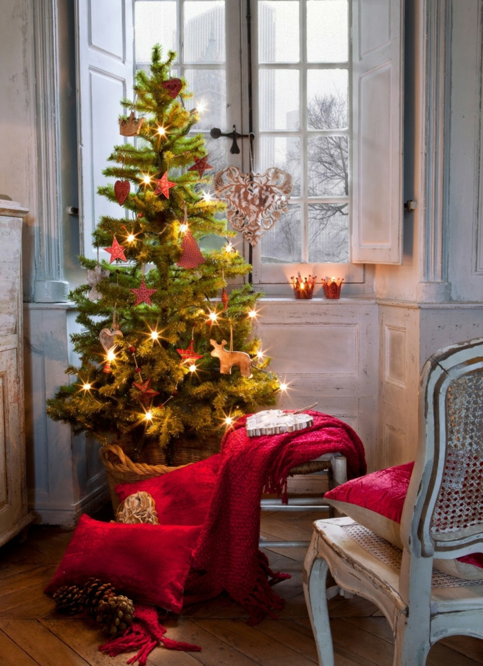 idée décoration de Noël avec coussins