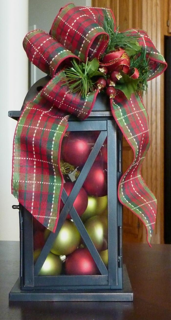 idée décoration de Noël avec lanterne