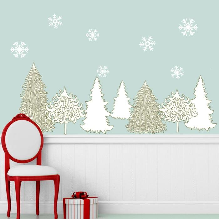 idée décoration de Noël murale
