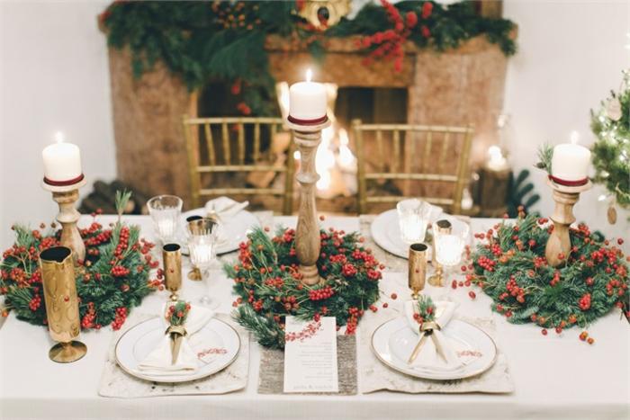 idée décoration de table de noël à réaliser