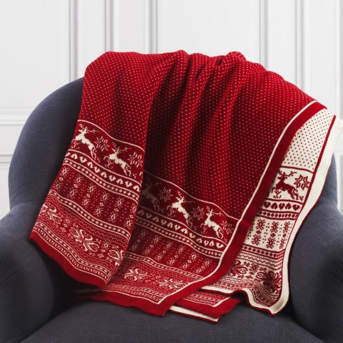 idée de décoration de Noël avec couverture