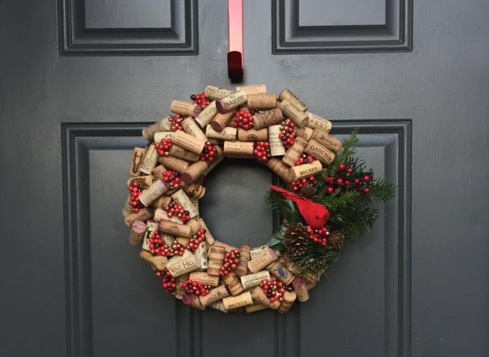 idée de décoration de Noël avec les bouchons de liège