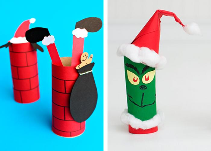 idée diy activité manuelle facile enfants décoration pour noël carton