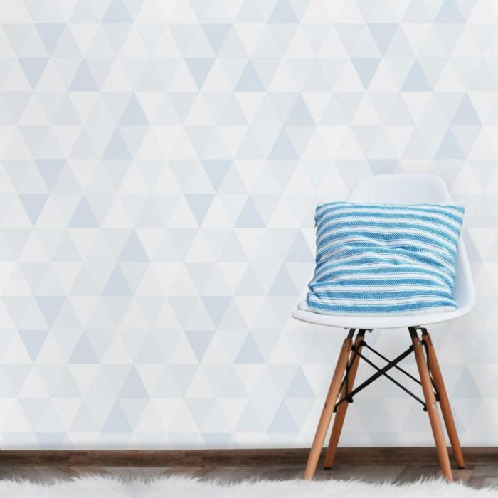 idée en bleu papier peint scandinave