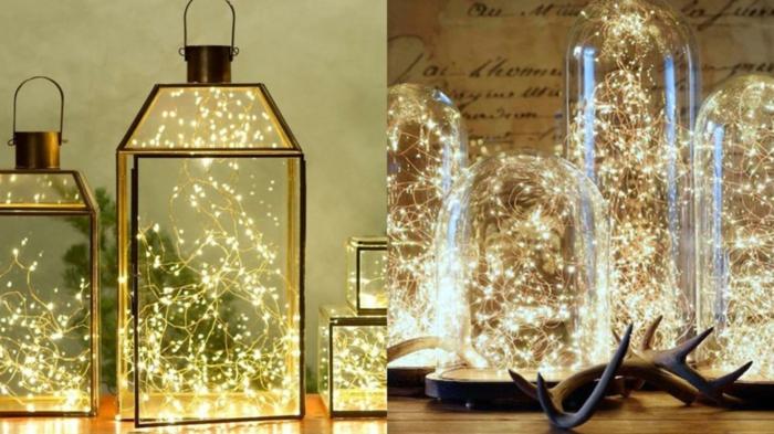 idée intérieur décoration de Noël avec guirlandes