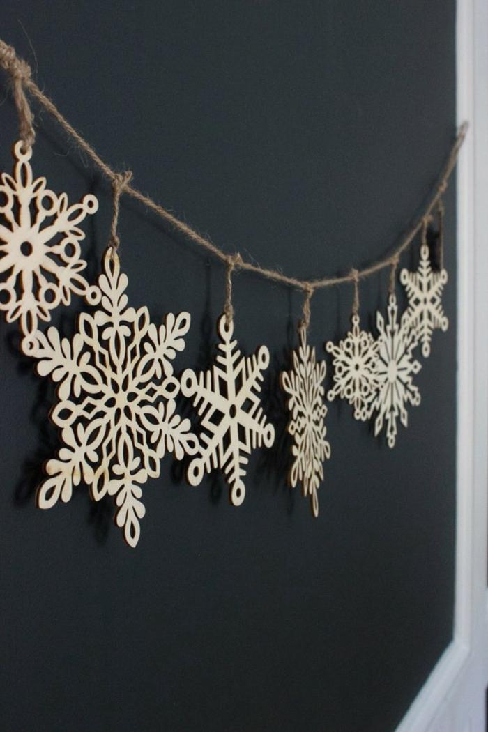 idée magnifique de guirlande de noël en flocons de neige