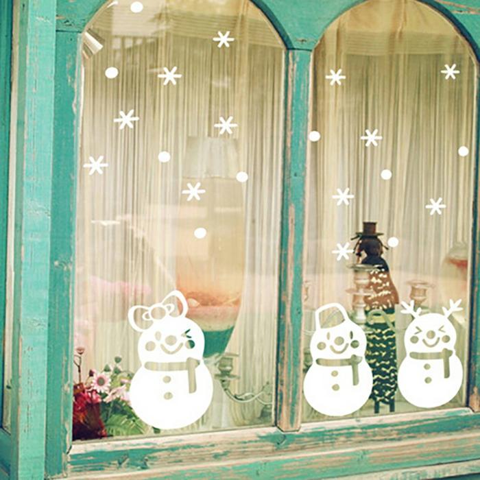 idée originale pour les fenêtres décoration de Noël