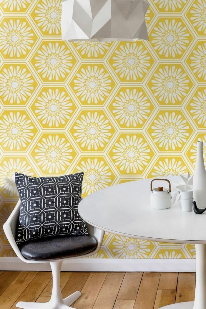Salon Peint En Jaune : Papier peint scandinave idées pour un intérieur tendance