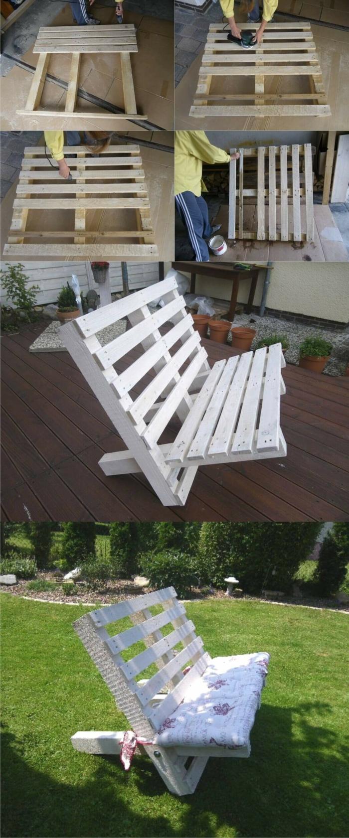 idée pour le jardin-banc palette