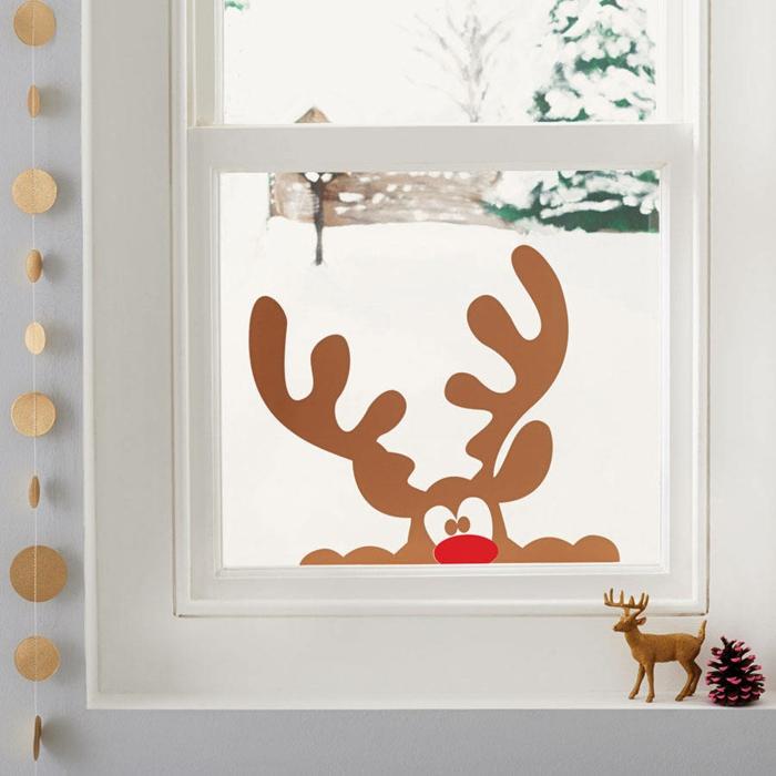 idée stickers pour les fenêtres décoration de Noël