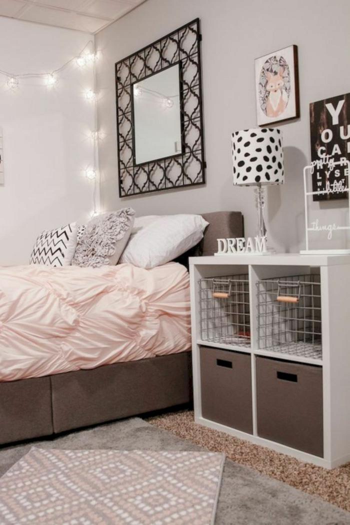 idées comment décorer une chambre fille ado
