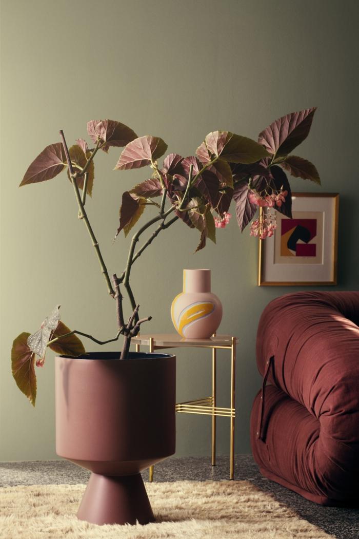 intérieur moderne en couleur terracotte