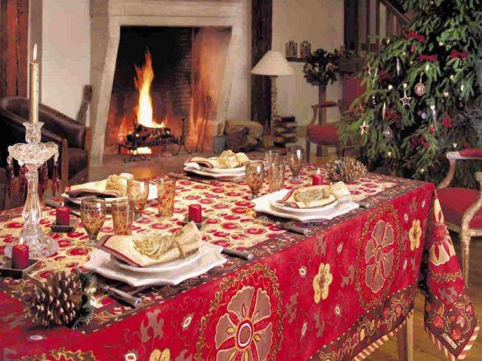 jolie déco de table décoration de table de noël