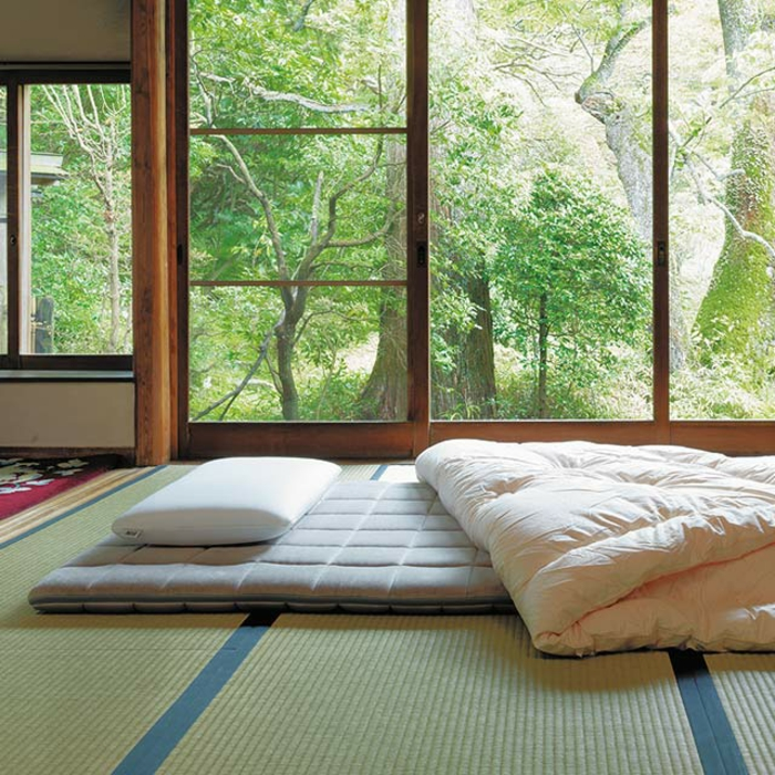 lit futon style japonais idée