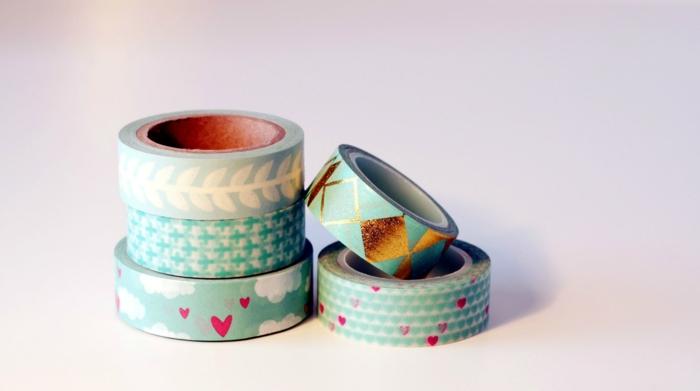 masking tape idées pour des pots de fleurs