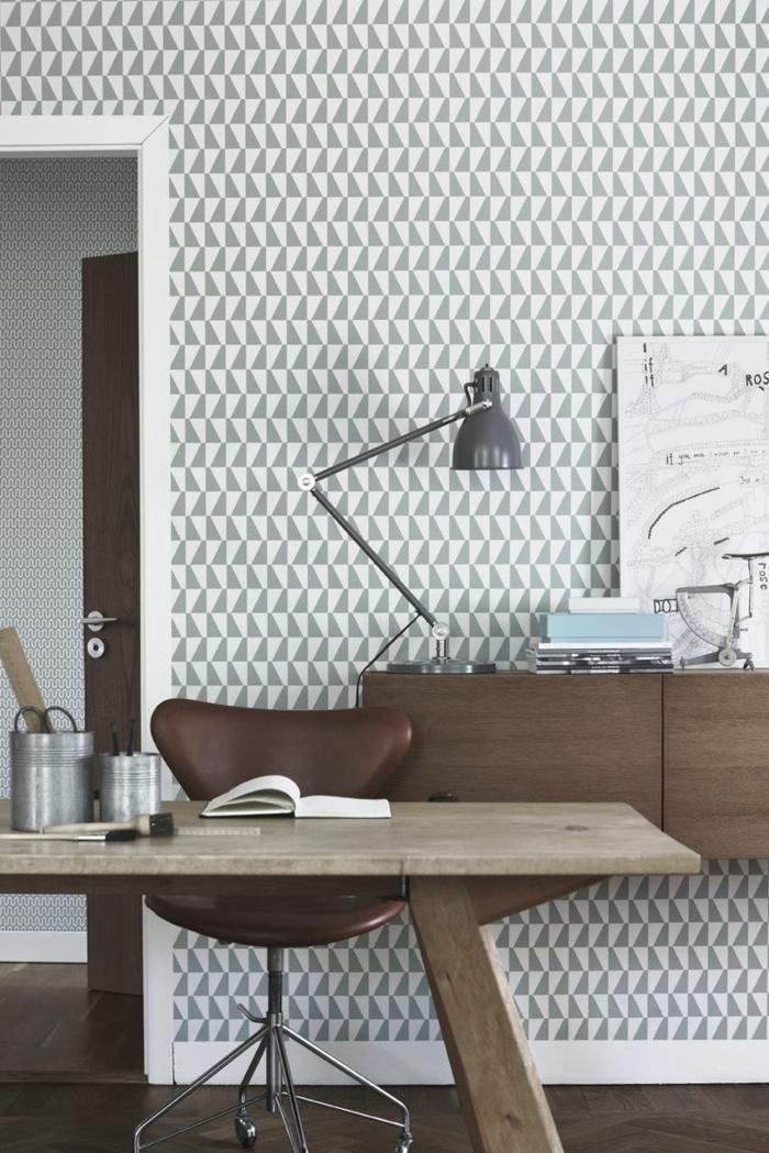 motifs géométriques papier peint scandinave