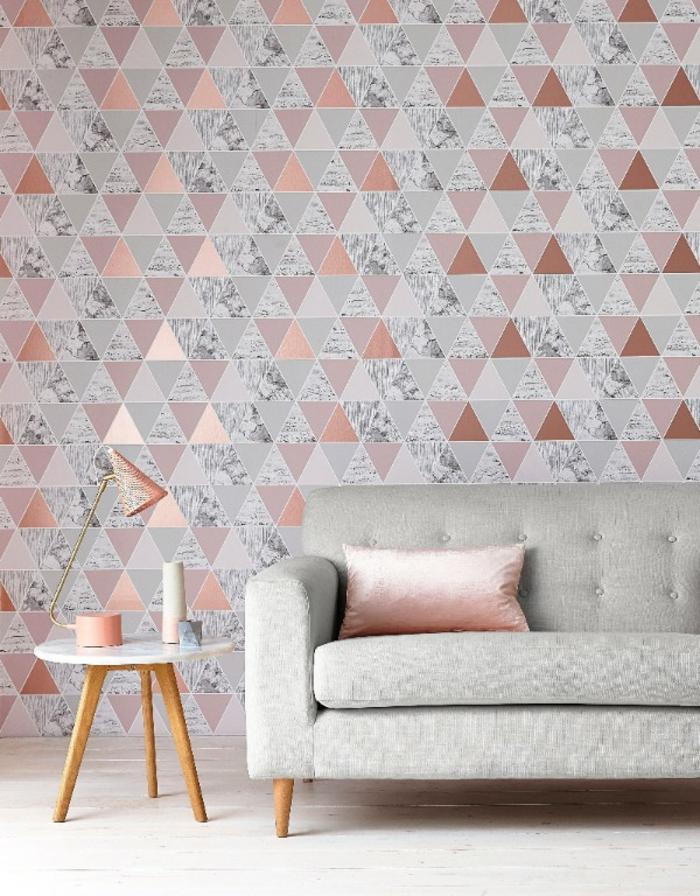 papier peint scandinave idée en triangles