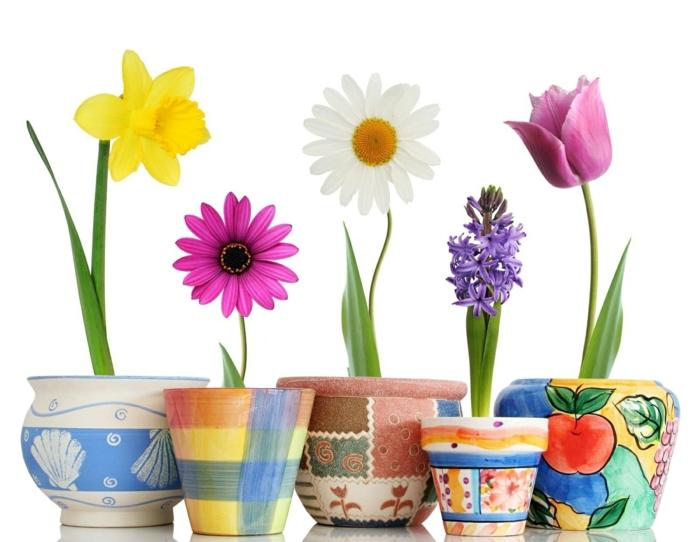 peinture acrylique pour les pots de fleurs