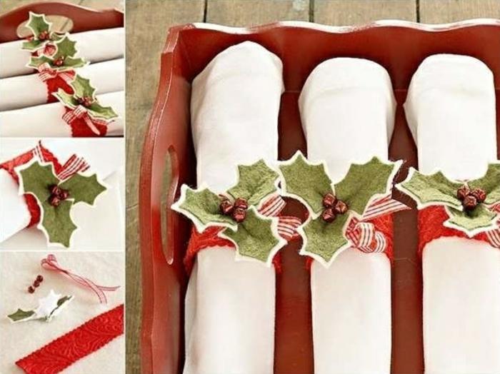 pliage de serviette décoration de table de noël