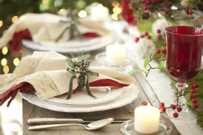 pliage serviette décoration de table de noël