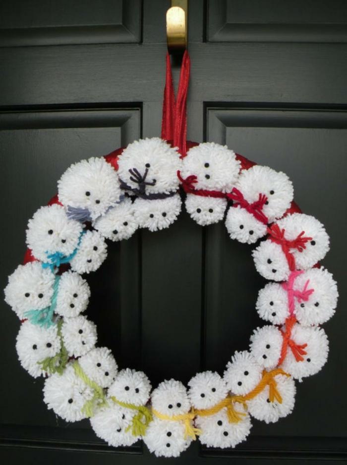 pompons idée décoration de Noël