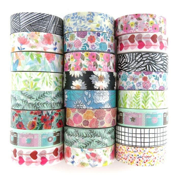 pots de fleurs déco avec masking tape