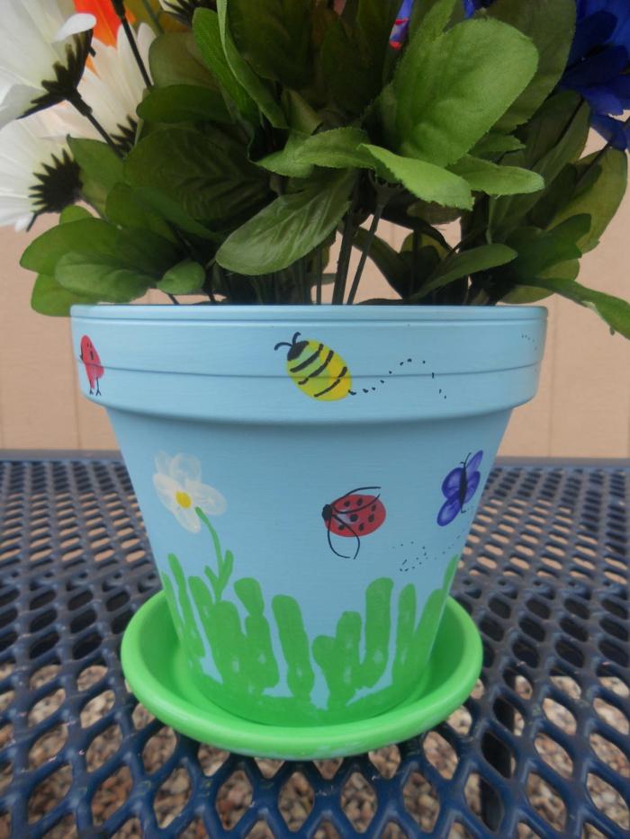 pots de fleurs déco peinture