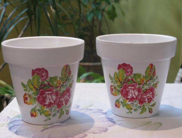 pots de fleurs découpage