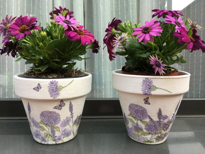 pots de fleurs idée déco avec papier