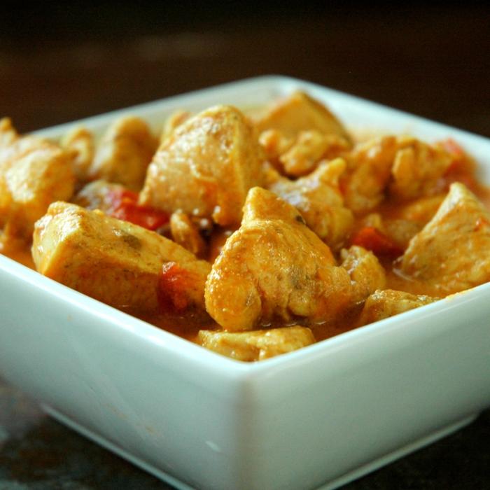 poulet au curry et au lait de coco idée recette avec du lait végétal