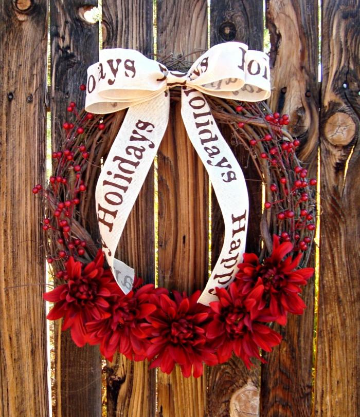 pour la porte idée décoration de Noël