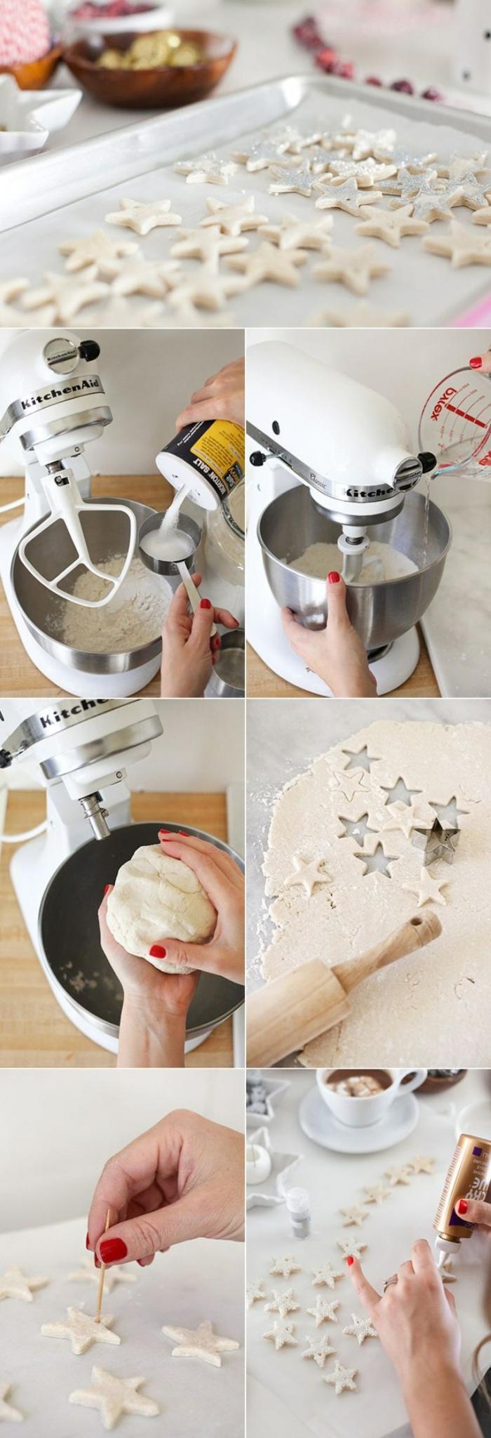 recette guirlande de noël en pâte à sel