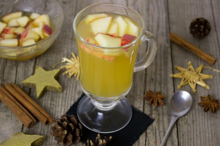 recette punch pour noël aux pommes et cannelle