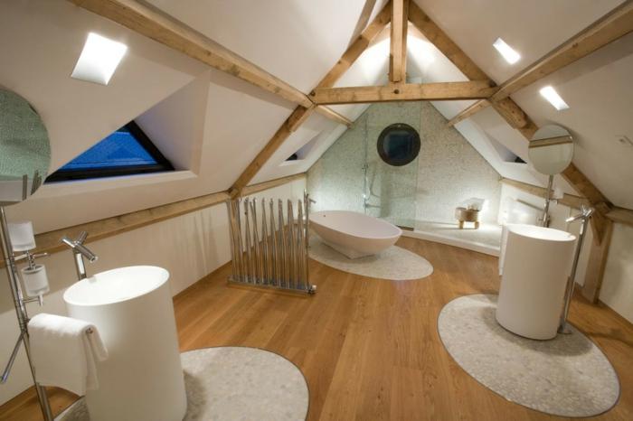 salle de bains moderne aménagement de combles